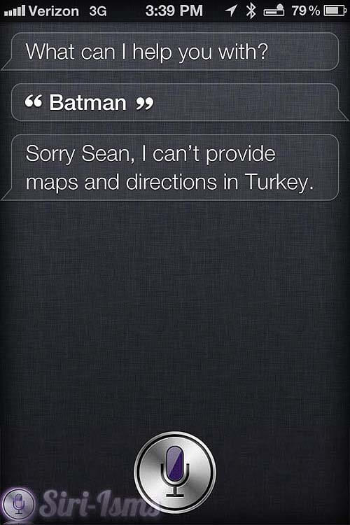 Batman! - Funny Siri Sayings